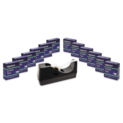Highland Desktop Dispenser & 12 Rolls Of Invisible Tape 6200 Desk 6200K12-DVP