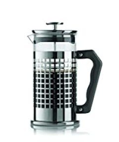 Bialetti 06708 Trendy 8-Cup French Press Coffee Maker, Stainless Steel, Silver