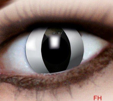1 Paar farbige Kontaktlinsen schwarze Katze 12 monats Linse