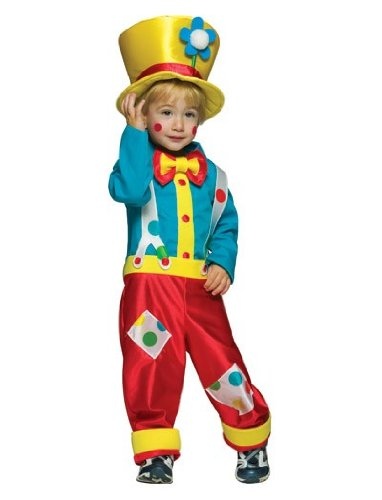 Rasta Imposta Clown Boy With Pant Shirt And Hat, Multi, 3-4T