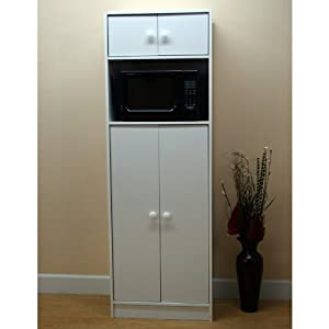 mazonlbb microwave pantry cabinet with microwave insert