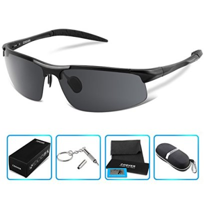 COSVER-Polarized-Sports-Sunglasses-for-Mens-Women-Driving-Cycling-Running-Fishing-Golf-Unbreakable-Metal-Frame-Al-Mg-Glasses