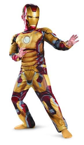 映画 『アイアンマン 3』 マーク 42 子供用 デラックス コスチューム Marvel Iron Man 3 Mark 42 Boys Classic Muscle Costume 公式ライセンス/仮装/衣装/コスプレ/歓送迎会/ハロウィン/クリスマス Large 10-12歳 【並行輸入】 日本未発売