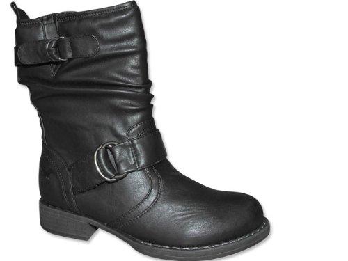 MUSTANG Stiefel Damen in Schwarz - Boot - schwarz , Schuhgröße 40