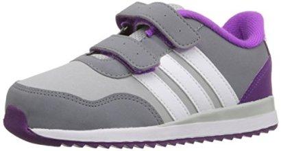 adidas-Performance-Girls-V-Jog-Cmf-Inf-Sneaker-Clear-OnixWhiteShock-Purple-Fabric-3-M-US-Infant