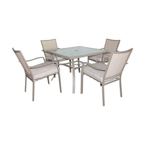 courtyard creations sfs5w87 5 piece capri collection steel patio dining set cheap phuong250520149