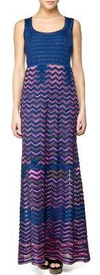 Langes Kleid von Missoni M. Blau