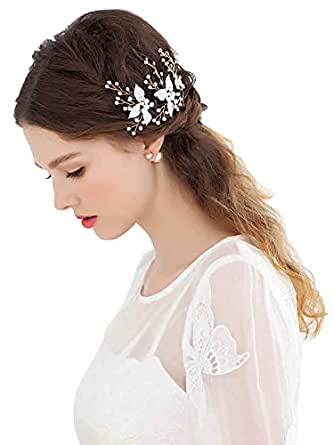 babyonline vintage bridal hair accessories headpieces gold pearls for wedding at women s
