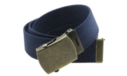 Canvas-Web-Belt-Military-Style-with-Antique-Brass-Buckle-and-Tip-50-Long