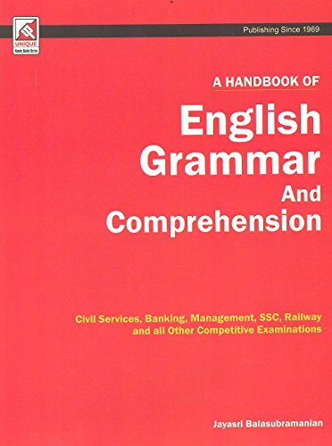 A handbook of English Grammar and Comprehension