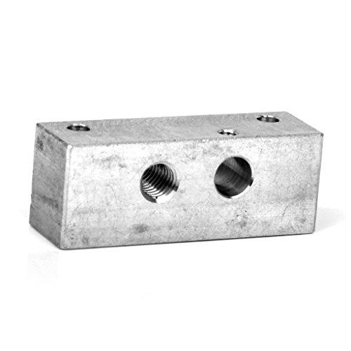 Aluminum-Unique-Buse-Tuyaux-de-Gorge-Fixation-Bloc-pour-3D-Imprimeur-Makerbot-Extrudeuse