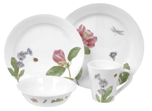 Corelle Impressions 16-Piece Dinnerware Set Camellia