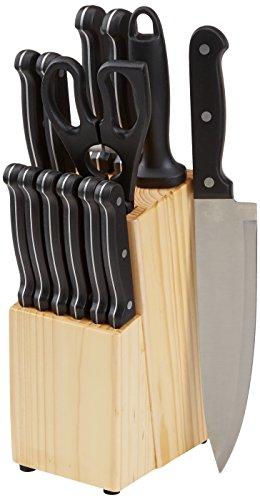 AmazonBasics 14-Piece Knife Set with Block