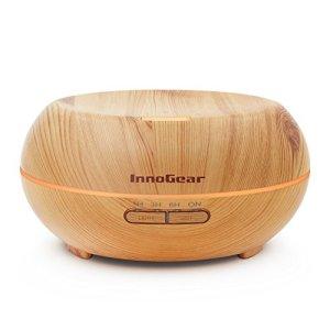 InnoGear-200ml-Aromatherapy-Essential-Oil-Diffuser-Wood-Grain