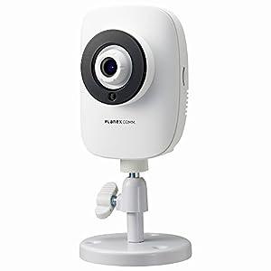 PLANEX ネットワークカメラ(スマカメ 話せる ナイトビジョン) 暗視撮影・音声双方向対応 CS-QR22