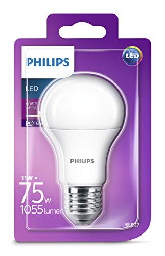 Philips Lampadina LED Goccia, E27, 13 W Equivalenti a 100 W, Luce Bianca Naturale Calda