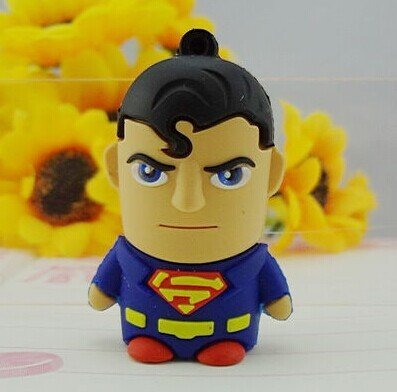 Superman Usb 2.0 Robot Usb flash drive 8g/16g cartoon usb flash drive personalized gift +Gift Box
