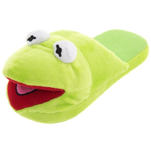 Disney Women's Kermit The Frog Green Slippers S/5-6