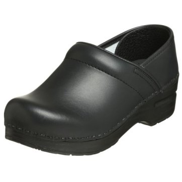Dansko Women's Professional Box Leather Clog,Black,39 EU / 8.5-9 M US