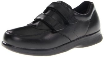 Propet Men's Vista Strap Shoe,Black,10 D US