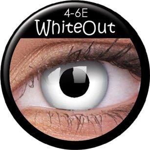 Farbige Kontaktlinsen crazy Kontaktlinsen crazy contact lenses White weisse weiße Kontaktlinsen 1 Paar. Mit Kontaktlinsenbehälter.