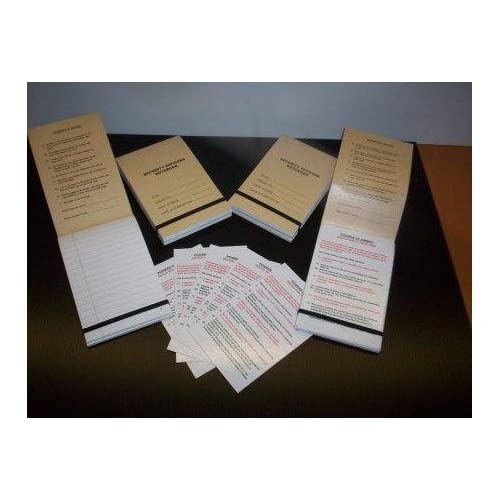 Security Officer Notebook - 100 page - Security Guard ...