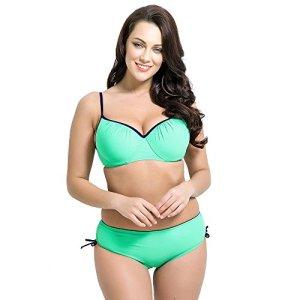Runbox-Womens-Plus-Size-Pleated-Push-up-Two-piece-Swimsuit-Swimwear-Bikini-Set