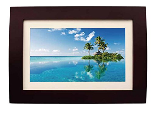 Sylvania SDPF1089 10-Inch LED Multimedia Wood Finished Digital Photo Frame