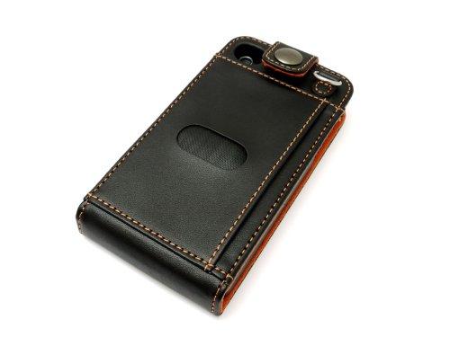 レイアウト iPhone4用フラップタイプレザージャケット_ブラックRT-P3LC1/B