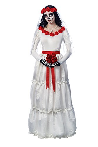 Women's Day Of The Dead Dia De Los Muerto's Bride Costume