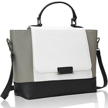 Bagerly-Fashion-Handbag-Crossbody-Bag-Top-Handle-Shoulder-Bags-Tote-Bag-White