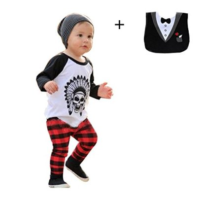FEITONG-1Set-Infant-Toddler-Baby-Boys-Long-Sleeve-Print-T-shirt-Tops-Pants-24-Months
