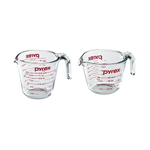 Pyrex Prepware Measuring Cup, Clear with Red Measurements, Duo Set, 1-Each 1-Cup