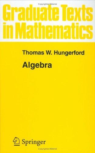Hungerfords Algebra