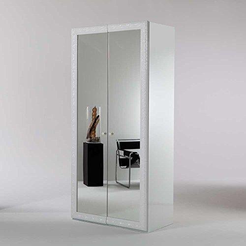 Kleiderschrank mit Spiegelfront 100 cm breit Pharao24