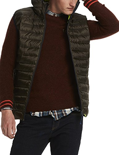 Scotch & Soda Herren Weste Classic Quilted Hooded Bodywarmer in Nylon Quality
