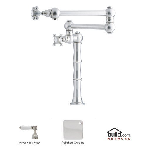 rohl a1452lp 2 country kitchen deck mounted pot filler faucet with porcelain lev polished chrome eldasdndreeffsd