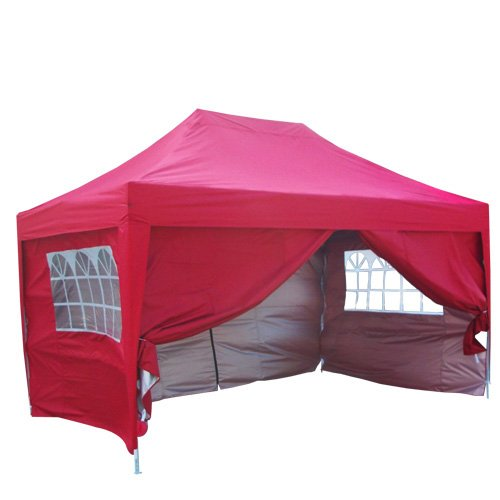 Quictent 10x15 EZ Pop Up Canopy Gazebo Party Wedding Tent Red Waterproof