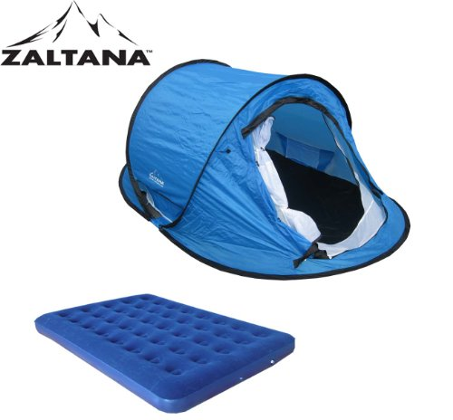 POP UP TENT WITH AIR MATTRESS(DOUBLE) SET