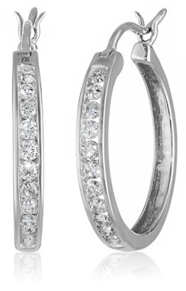 10k-Gold-Round-Cut-Diamond-Hoop-Earrings-1-cttw-I-J-Color-I2-Clarity