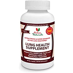 Activa Naturals Lung Health Supplement for Respiratory System Health Support - 90 Veg. Caps