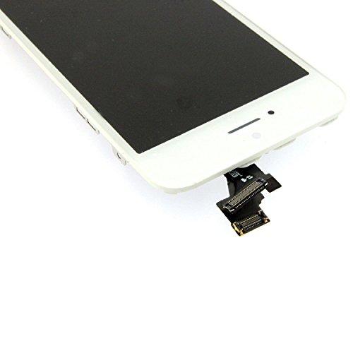 Super LCD Shop iPhone5 フロントパネル カスタムパーツ 液晶パネル LED スクリーン 修理パーツ(ホームボタン +スピーカー +フロントカメラ)(ホワイト)