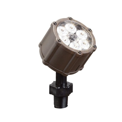 kichler lighting 15742azt led accent light 6 light low voltage 35 degree flood light textured architectural bronze with clear tempered glass lens discount kichler lighting new