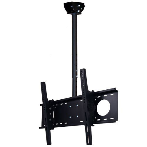 VideoSecu LCD Plasma Flat Panel TV Ceiling Mount Bracket for most 30-60 inches LCD LED Plasma TV Flat Panel Displays MPC53B 1S5