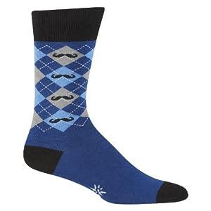 Men's Argyle Mustache Socks by Sock it To me