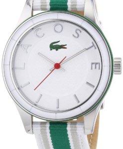 Lacoste 2000769 - Reloj analógico de cuarzo para mujer, correa de tela multicolor