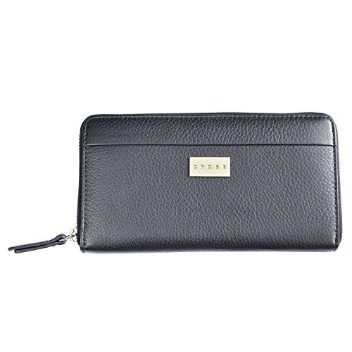 Cross® Women's 100% Genuine Leather Zip Around Card Wallet-Black
