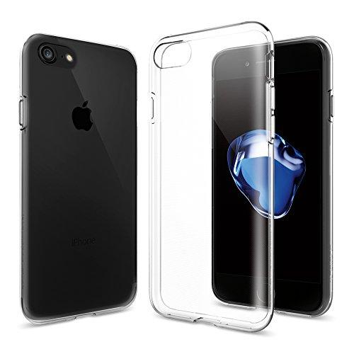 【Spigen】 iPhone 7 ケース, リキッド・クリスタル [ クリア 超薄型 超軽量 ] アイフォン 7 用 カバー (iPhone7, クリスタル・クリア)
