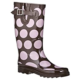 Product Image Women's Mod Dot Rain Boots - Chocolate