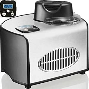 Andrew James Professional Fully Automatic Ice Cream Maker With Built-in Compressor + Free 128 Page Ice Cream Maker Cook Book